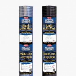 """Resinet HC315 - 3' x 15' Rigid Utility Mesh - 1/2"""" x 1/2"""" Black Mesh"""