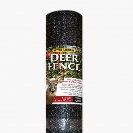 "Resinet HDF7100 - 7' x 100' Biaxially Oriented Mesh Deer Fence - 3/4"" x 1/2"" Black Mesh"