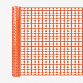 Resinet SL2148100 Oriented Flat Mesh Barrier Fence (Orange)