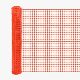 Resinet SLM4048100 Square Mesh Barrier Fence 4' x 100' Roll (Orange)