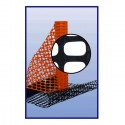 Resinet OSF60 48100 Lightweight Oriented Snow Fence Orange 4' x 100'